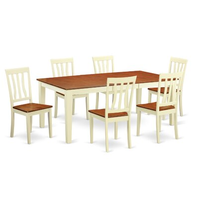 Loraine 7 Piece Dining Set Finish: Buttermilk and Cherry