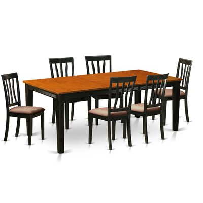 Loraine 7 Piece Dining Set Upholstery: Microfiber Upholstery