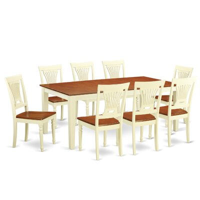 Loraine 9 Piece Dining Set Finish: Buttermilk