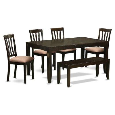 Lockmoor 6 Piece Dining Set Upholstery: Beige Microfiber