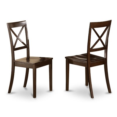 Hillhouse Side Chair (Set of 2) Finish: Cappuccino, Upholstery: Wood