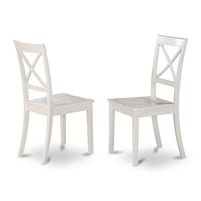 Hillhouse Side Chair (Set of 2) Upholstery: Wood, Finish: Linen White