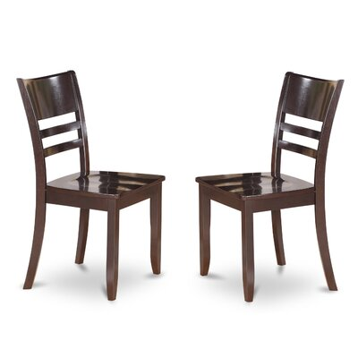 Lockmoor Side Chair with Wood Seat (Set of 2) Color: Cappuccino