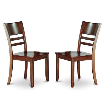 Lockmoor Side Chair with Wood Seat (Set of 2) Side Chair Finish: Espresso