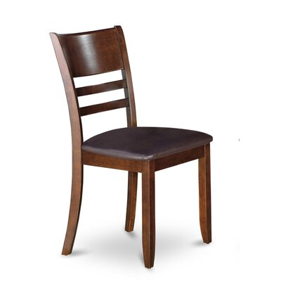 Lockmoor Side Chair with Faux Leather Seat (Set of 2) Finish: Espresso