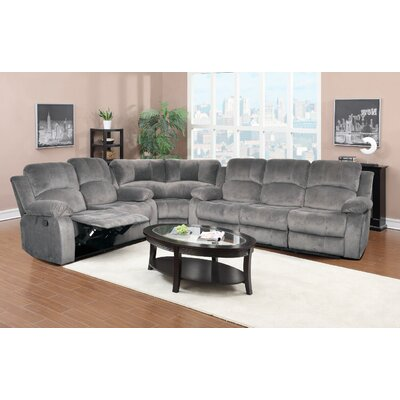 Maumee Reclining Sectional Upholstery: Gray