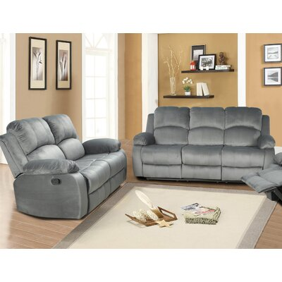 Maumee Sofa and Loveseat Set Upholstery: Gray