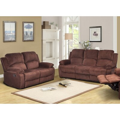 Maumee Sofa and Loveseat Set Upholstery: Dark Brown