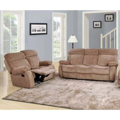 Meniru 2 Piece Living Room Set Upholstery: Camel