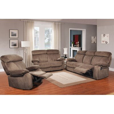 Meniru 3 Piece Living Room Set Upholstery: Walnut