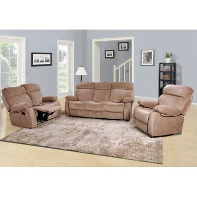 Meniru 3 Piece Living Room Set Upholstery: Camel