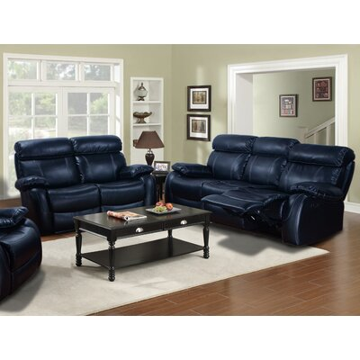 Market Garden 2 Piece Living Room Set Upholstery: Black