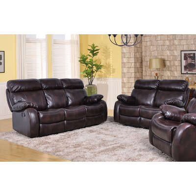 Market Garden 2 Piece Living Room Set Upholstery: Brown