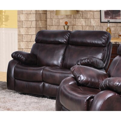 Market Garden Reclining Loveseat Upholstery: Brown