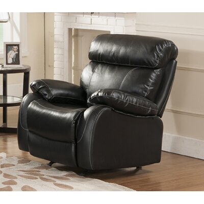 Market Garden Manual Rocker Recliner Upholstery: Black