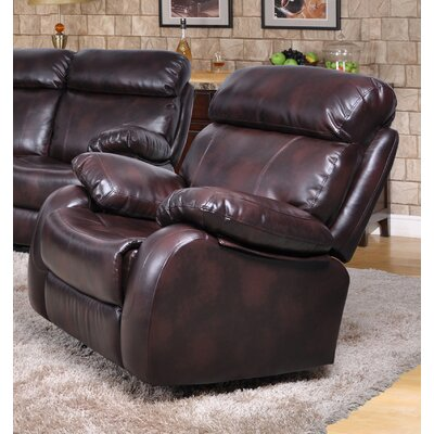 Market Garden Manual Rocker Recliner Upholstery: Brown