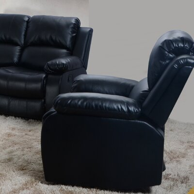 Maumee Recliner Upholstery: Black