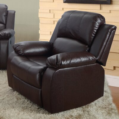 Maumee Recliner Upholstery: Brown