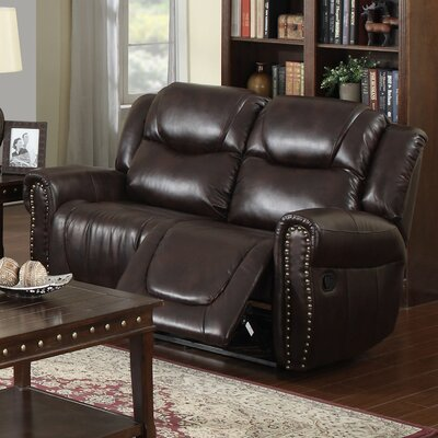 Marsh Island Leather Reclining Loveseat