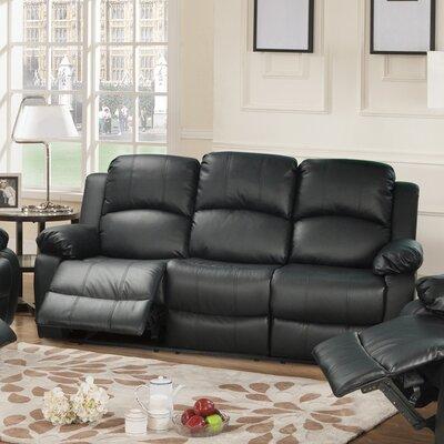 Mayday Reclining Sofa Upholstery: Black