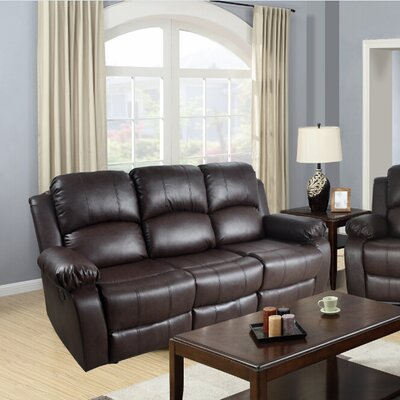 Mayday Reclining Sofa Upholstery: Brown