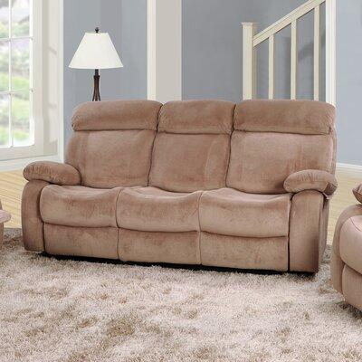Meniru Reclining Sofa Upholstery: Camel