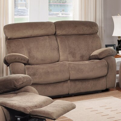 Meniru Reclining Loveseat Upholstery: Walnut