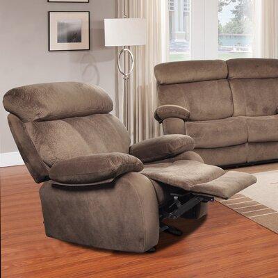 Meniru Manual Recliner Upholstery: Walnut