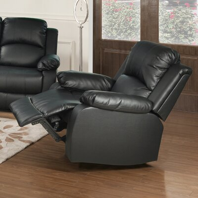 Mayday Manual Recliner Upholstery: Black