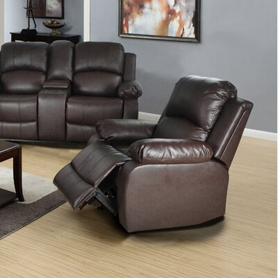 Mayday Manual Recliner Upholstery: Brown