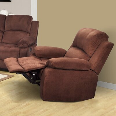 Maumee Manual Recliner Upholstery: Dark Brown