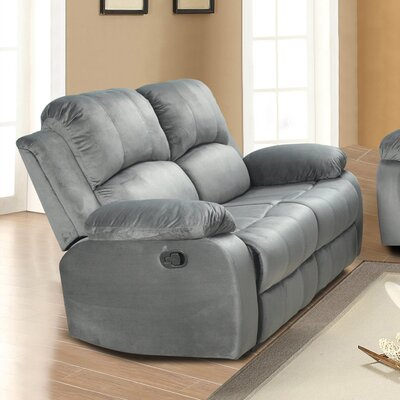 Maumee Reclining Loveseat Upholstery: Grey