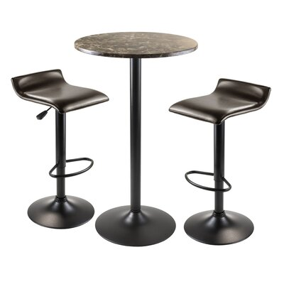 Varnum 3 Piece Pub Table Set