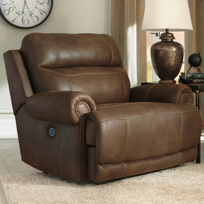 Culver Power Recliner Type: Manual, Upholstery: Gray
