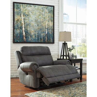 Culver Zero Wall Recliner Type: Power, Upholstery: Gray