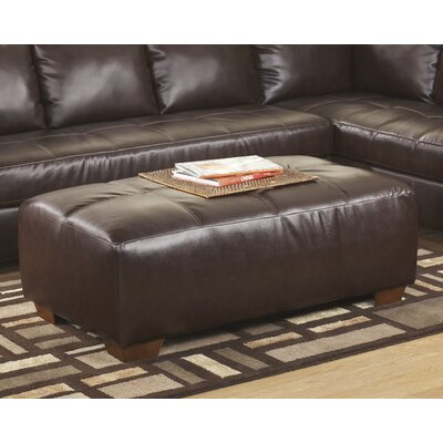 Crabtree Oversized Leather Ottoman