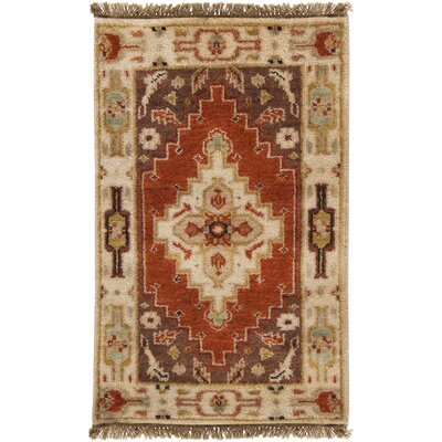 Orland Classic Beige/Rust Rug Rug Size: Rectangle 2 x 3