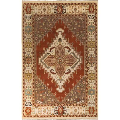 Orland Classic Beige/Rust Rug Rug Size: Rectangle 9 x 13