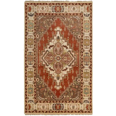 Orland Classic Beige/Rust Rug Rug Size: Rectangle 56 x 86