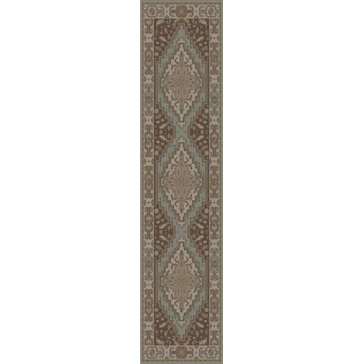Orland Oriental Brown Area Rug Rug Size: Runner 26 x 8