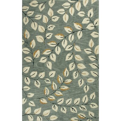 Lager Head Leaves Green Area Rug Rug Size: Round 56