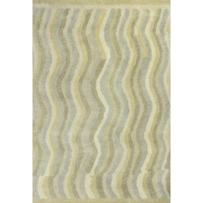 Lubin Waves Tan Area Rug Rug Size: Rectangle 5 x 76
