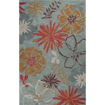 Lager Head Ocean Wildflowers Blue Area Rug Rug Size: Rectangle 23 x 39