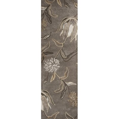 Odile Grey Wildflowers Area Rug Rug Size: Runner 23 x 76