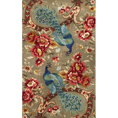Las Cazuela Peacock Flora Rug Rug Size: Rectangle 33 x 53