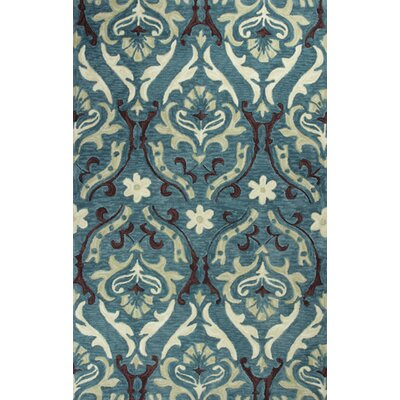 Lager Head Blue Damask Area Rug Rug Size: Rectangle 5 x 76