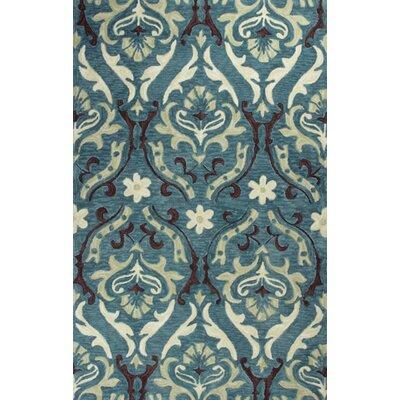 Lager Head Blue Damask Area Rug Rug Size: 5 x 76