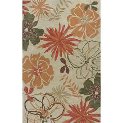 Lager Head Wildflowers Ivory Area Rug Rug Size: 79 x 99