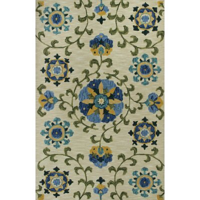 Lager Head Allover Suzani Tan Area Rug Rug Size: 5 x 76