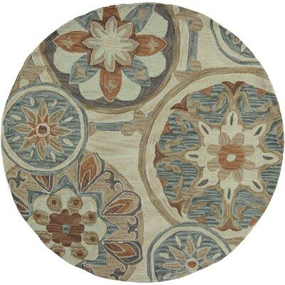 Lager Head Mosaic Tan Area Rug Rug Size: Rectangle 79 x 99